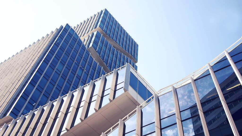 Image of modern office building managed by owners corporation in Melbourne